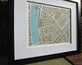 CUSTOM FOR DAVID 11x14 2 Layer Map framed