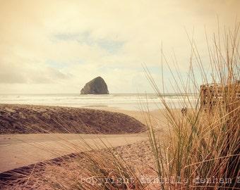 Beach Photography Oregon Coast Haystack Rock Pacific City Pastel--Fine Art Lomography 8x12