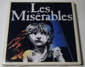 Broadway 4 Coaster Set - Ceramic Tile Coasters - Les Miserables, Phantom of the Opera, Wicked, Cats - Set of 4