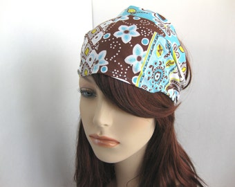 Womens Head Wrap White Brown Green Blue Womens Headband Fabric Headand Floral Bandana Headband Hippie Hair Accessory Womens Gift for Her