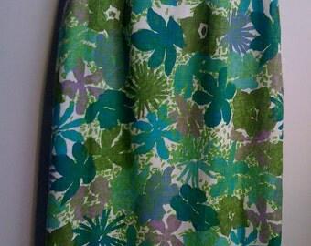 1960's Linen Straight / Pencil Skirt