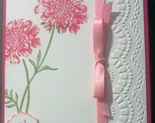 Handmade, 3-Dimensional, Stamped and Embossed Birthday Day Card