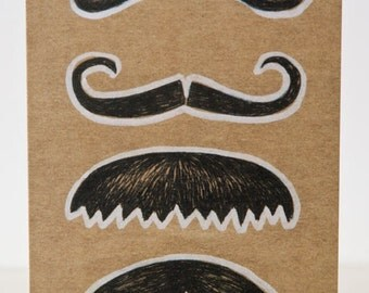 Greeting card 'Moustaches'