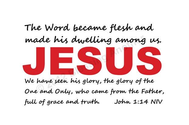 Scripture word art chritmas john 1 14 jesus by clmurphycreative