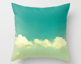 SALE, Pillow cover, turquoise pillow, mint pillow, aqua pillow, green turquoise, couch pillow, cloud pillow, sky pillow, colorful, pillows