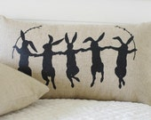 Dancing Bunnies Pillow Cover, 12x20