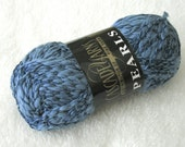 Cascade Pearls 2868 dusty blue cotton rayon thick and thin yarn. sport weight