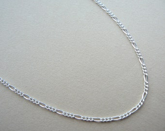 "SALE Figaro Sterling silver chain - 16"",17"",18"",19"",20"",21"",22"",23"",24"", for pendant"
