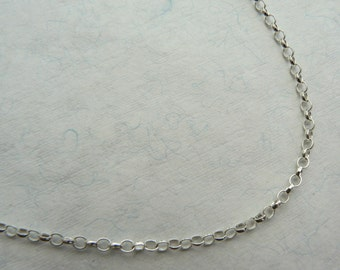 """Sterling silver thick oval rolo belcher chain, 16"""", 17"""", 18"""", 19"""", 20"""", 21"""", 22"""", 23"""", 24"""" suitable for large pendant"""