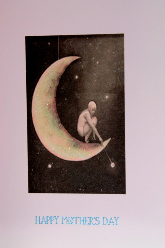 Mothers Day Card with Moon