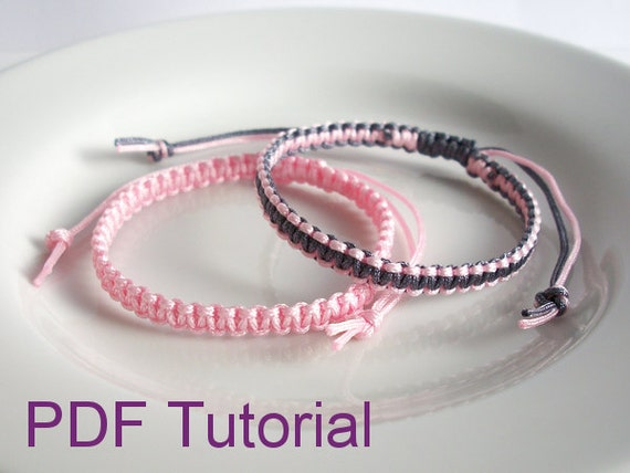 how to make a square knot bracelet pdf tutorial square knot macrame bracelet pattern instant 5098