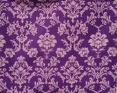 Echino Decoro Purple Exotic Patterned Fabric