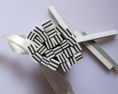 m-50 Cute Black&White line Cane Polymer Clay Cane Nail Art Decoration 5pcs