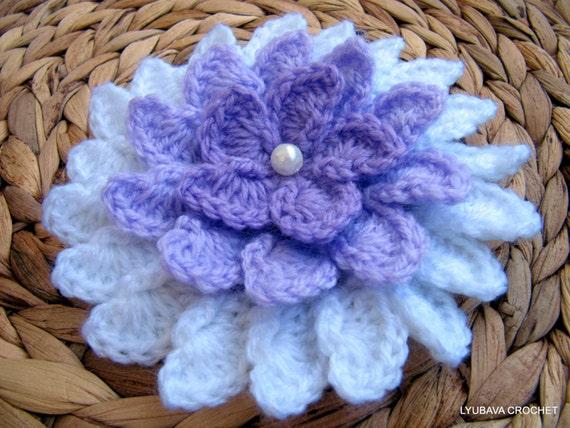 Giant Crochet Flower Pattern : Crochet Flower PATTERN, Lilac Flower DIY Crafts, Unique ...