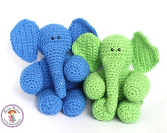 Elephant Crochet Plush Toy - You Choose Color - Made To Order