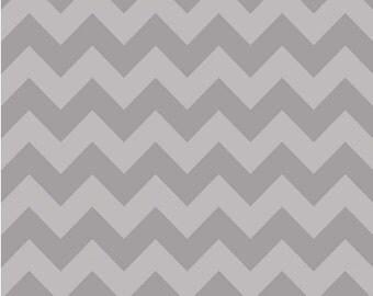 Medium Chevron Tone on Tone Gray by Riley Blake Designs Half Yard Cut