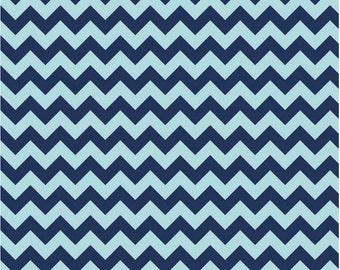 Small Chevron Tone on Tone Navy by Riley Blake Designs 1 yard cut