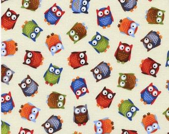 Owl Fabric - Half Yard Cut - Timeless Treasures - Quilting Fabric - Cotton Fabric