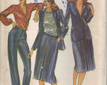 Butterick Sewing Pattern 3379 - Misses' Jacket, Skirt and Pants (14) (PARTLY CUT)