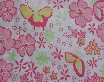 Dancing Butterfly fabric 18 X 18 inches  ~Lilly Pulitzer~