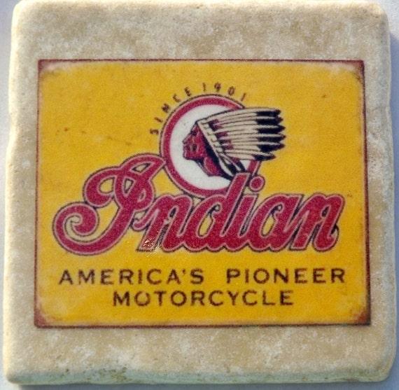 Indian Motorcycle Vintage Logo Coaster
