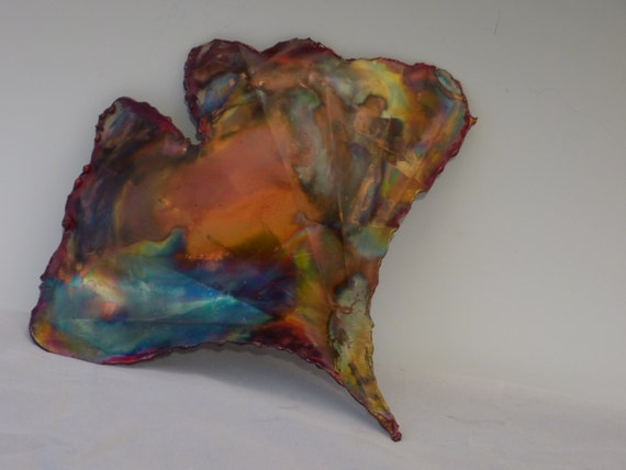 Metal Sculptures And Art Wall Decor: Items Similar To COPPER GINKGO LEAF: Wall Decor,metal
