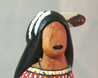 Story Teller Native American Indian faceless art doll history culture collectible tribal signed
