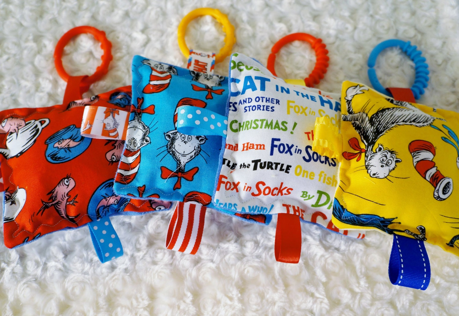 Baby Toys 4 Cat in the Hat crinkle toys set of by Sassydoodlebaby