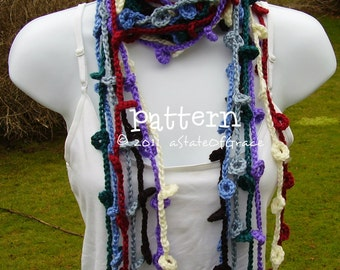 Ring Lariat Scarf PATTERN, Crochet, Bunting, Garland, INSTANT DOWNLOAD