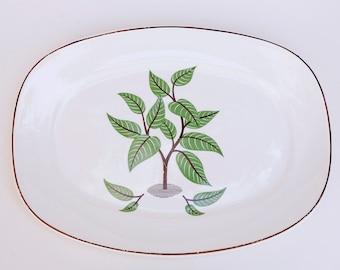 Vintage Platter by Taylor Smith Taylor, Vintage Taylor Smith Taylor Coffee Tree Pattern