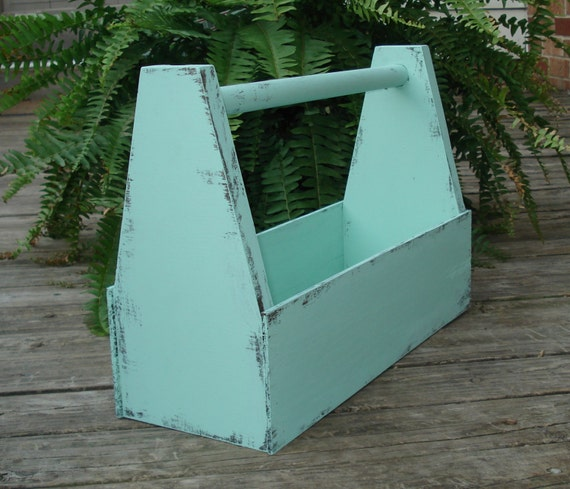 Wedding Gift Tool Box : Handmade Wooden tool box/ planter / Vintage Inspired. For Weddings ...