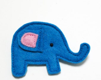 blue elephant brooch
