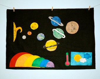 Large Felt Board - Flannel Board - Classroom - Felt Story Board - Montessori Flannel Board