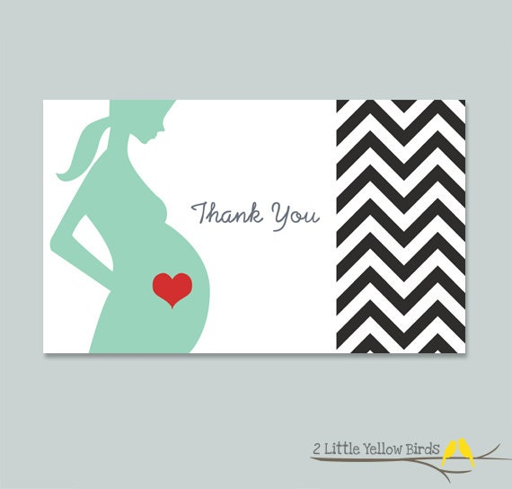 Baby Shower Thank You Cards - Chevron