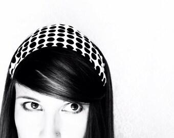 Retro Headband Black White Dots Mod Headband For Women Black Hairband Accessories teen headbands 60s Retro Fashion