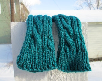 Cabled Wristwarmers - Made to Order