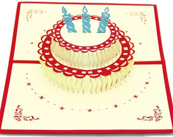Birthday cake  in Pop up card