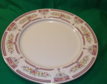 """One (1), 12"""" Porcelain Chop Plate (Round Platter), from Arlen, in the Grandiose 2839 Pattern."""
