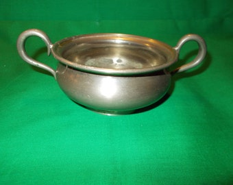 One (1), Two Handled, Silver Plated Metal Bowl, from Universal, Landers, Frary & Clark