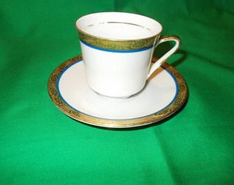 One (1), Porcelain Demitasse Cup and Saucer, from Rosenthal-Continental, of Bavaria