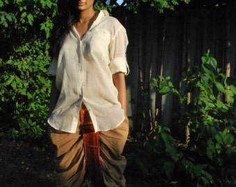 THE STITCHED DHOTI, women's harem pants, sari, bohemian, indian, gypsy, goa