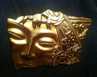 SALE: Jonette Jewelry Rectangular  Face Brooch