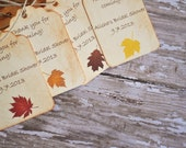 This is a custom listing for S. (150 Fall Favor Tags Wedding Tags For Bags Favors Autumn)