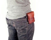 Leather iPhone Wallet - iPhone Holster, Leather, Saddle Tan