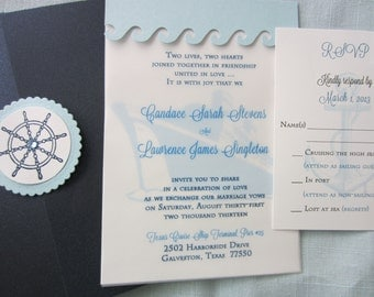 Cruise ship invitation Etsy