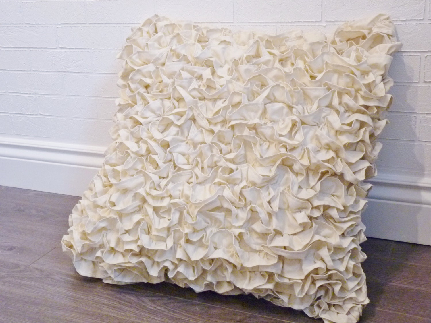 Ruffled Euro Pillow Sham 26x26