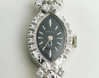 "Vintage Watch - Vintage ""Hamilton"" Ladies Diamond  Watch"