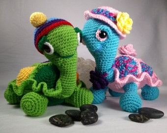 "My Sweet ""Buddy"" Turtle Crochet PATTERN - Design by kre8ivLizard - instant download"