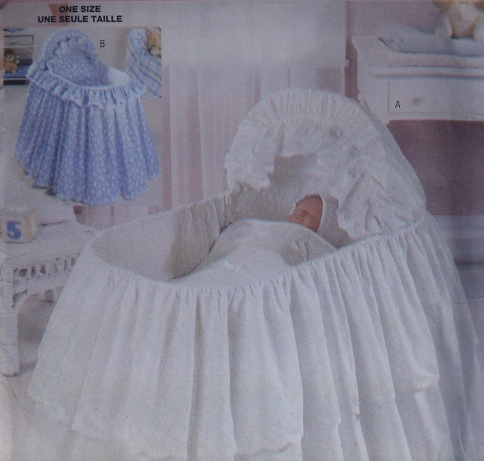 Beautiful Eyelet Baby Bassinet Dressing Skirting Bed Ruffle