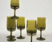 Green Goblets Strike Again: Vintage stemware